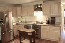 Full kitchen with stainless appliances