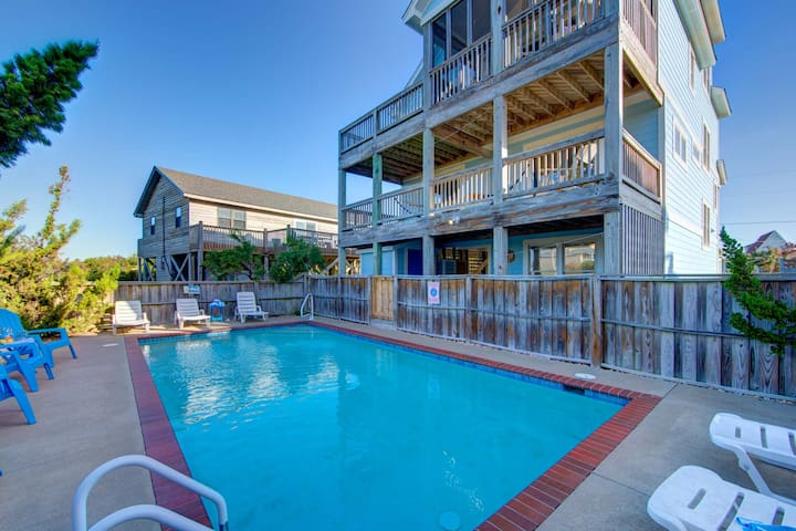 SEPT. 5 WEEK! Hatteras Village: 135 yards from the beach, private pool, hot tub