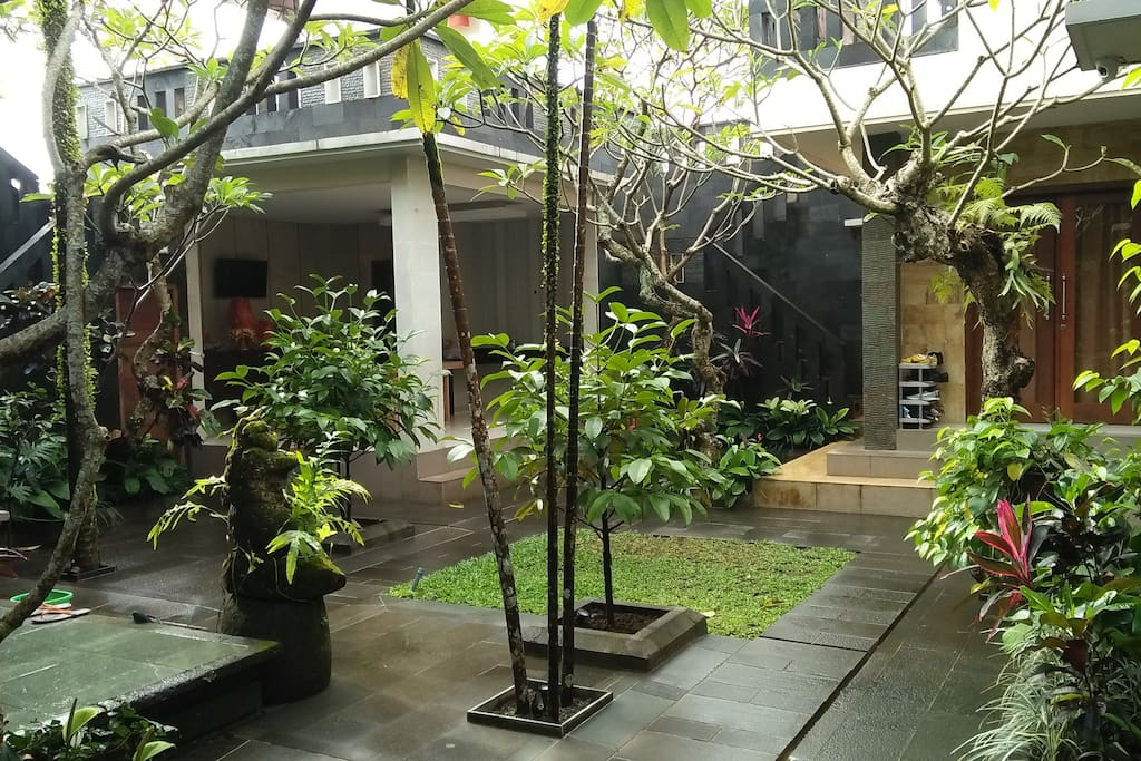 Garden view in front of the room