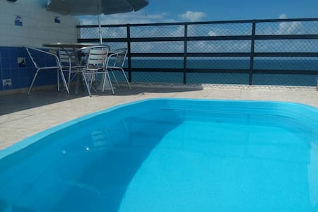 Cobertura: 3/4 com piscina privativa e vista mar