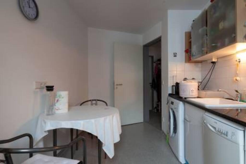 Kitchen with washing mashine