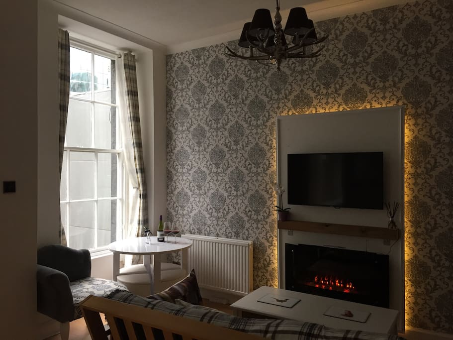Cosy living room with a Scottish touch