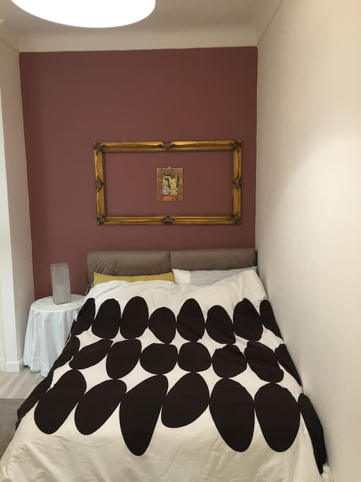 Welcome to the Violettes Apartment.  Bedroom with comfort bed