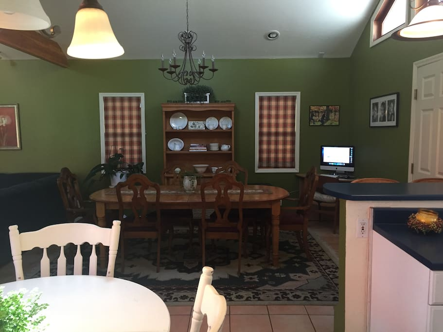 Breakfast table and formal dining area