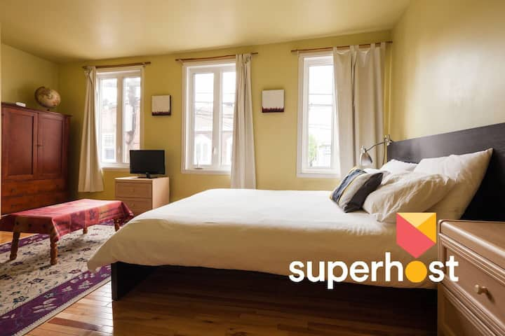 The most chosen Airbnb room in Quebec city
