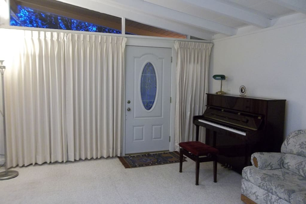 There's a piano in the living room