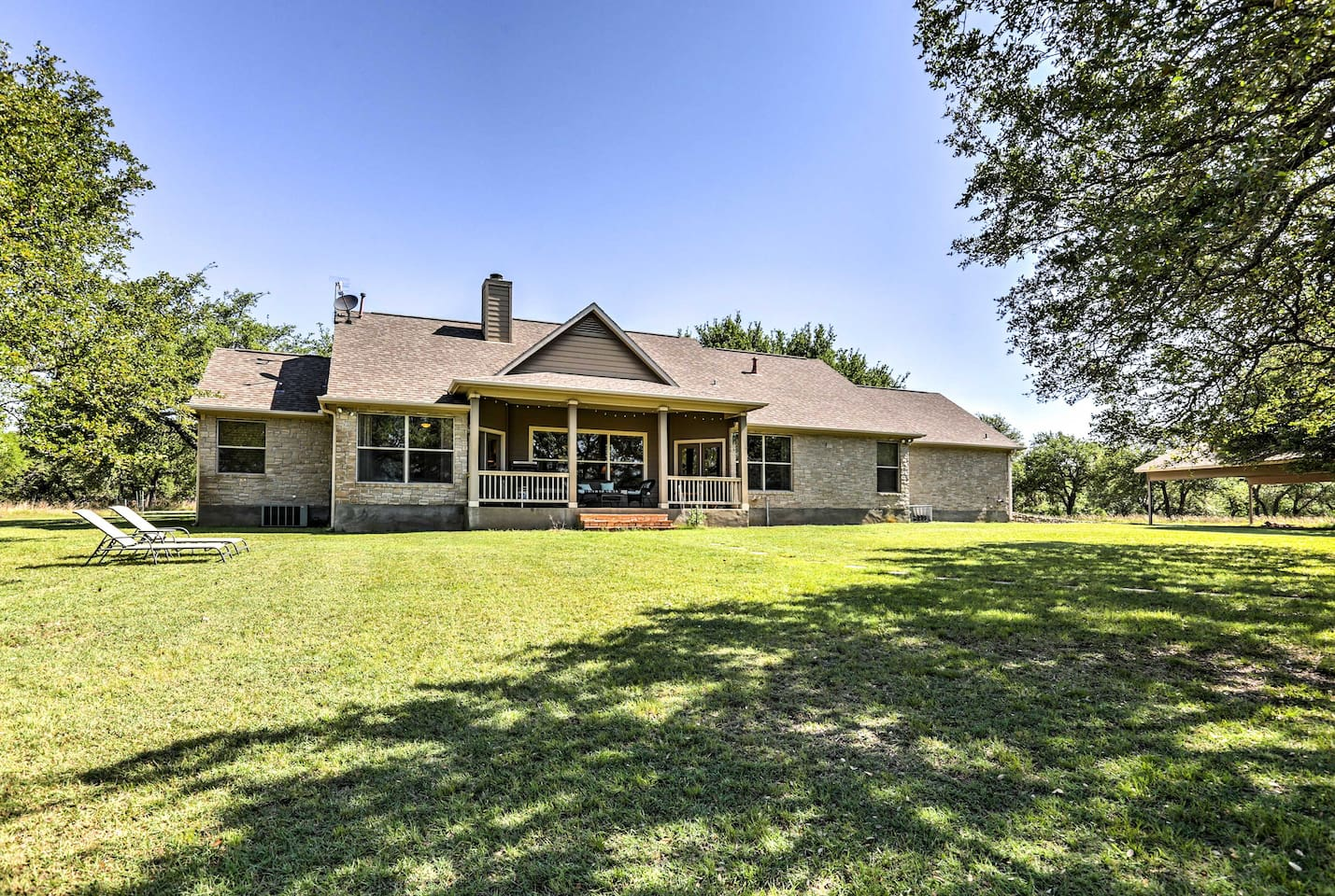 Explore the Texas Hill Country from this beautiful 4-bedroom, 3-bath home.