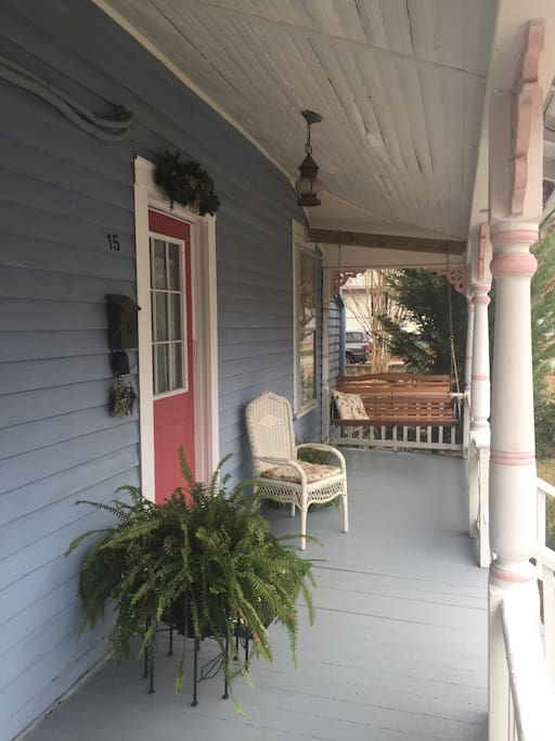 Lovely front porch with swing
