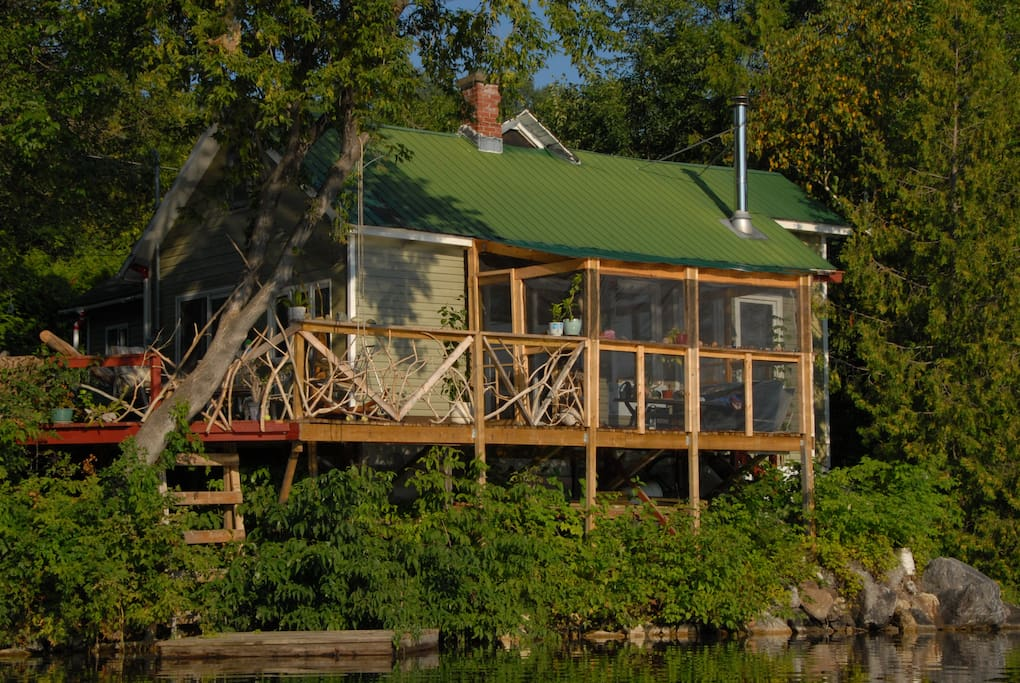 Gazebo and deck from river