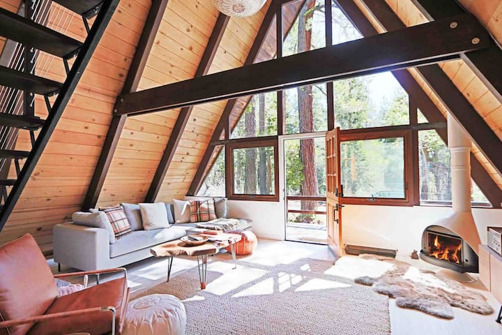 Mid Century Modern Cabin - The Tahoe A-Frame