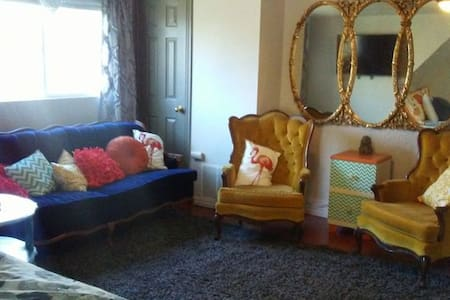 """THE OGDEN ECLECTIC """"900 square foot apartment."""""""