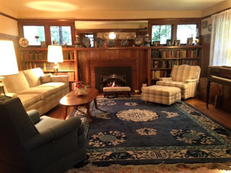 Formal Living Room with Gas Fireplace