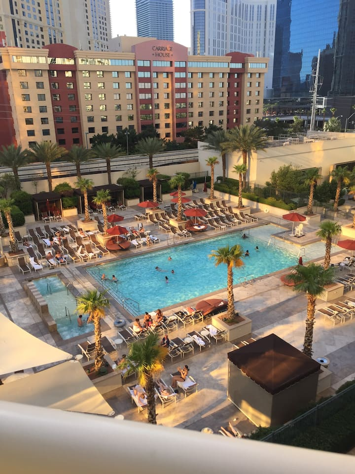 MGM StripSide W/ Balcony - Resort Fee/Tax Included