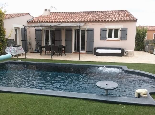 Villa à Vendres 6p proche mer avec piscine - Vendres - Villa