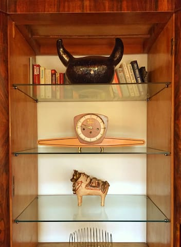 The villa reflect our love for antiques and contemporary art
