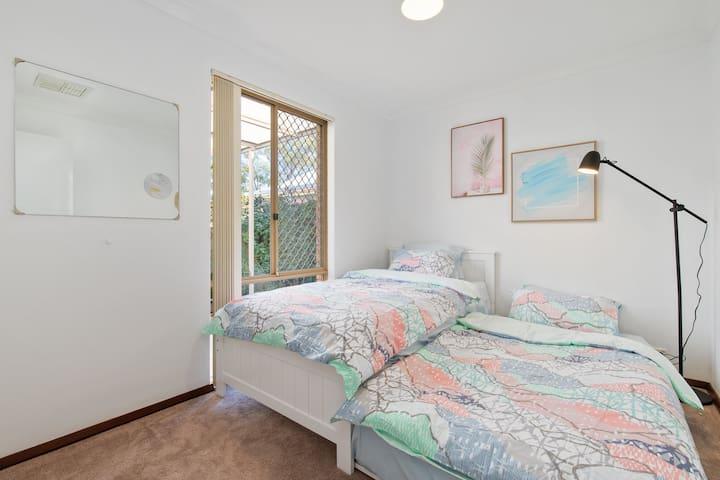 3rd Bedroom - 2 x King Single Beds