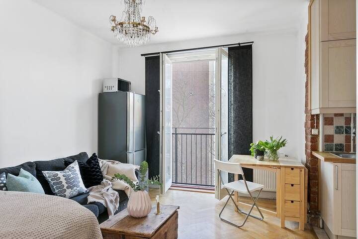 Youth style-flat for two in center of Stockholm