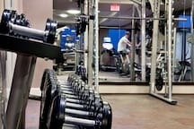 Building amenities: fabulous gym to serve all of your fitness needs to keep up with your routine on the go!
