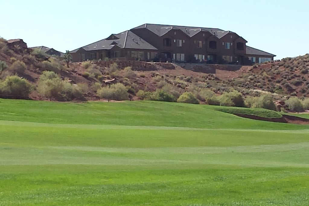 Overlooking Coral Canyon Golf Course