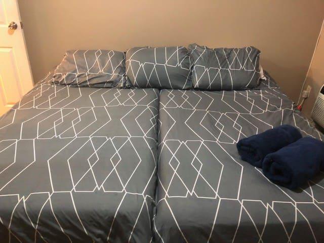 New Private Cozy Condo with private bedroom & bath