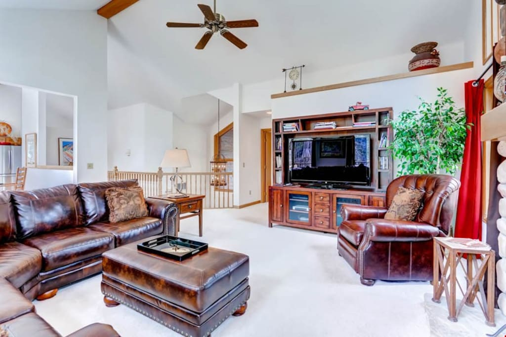 Cozy up and watch a movie in the spacious living room