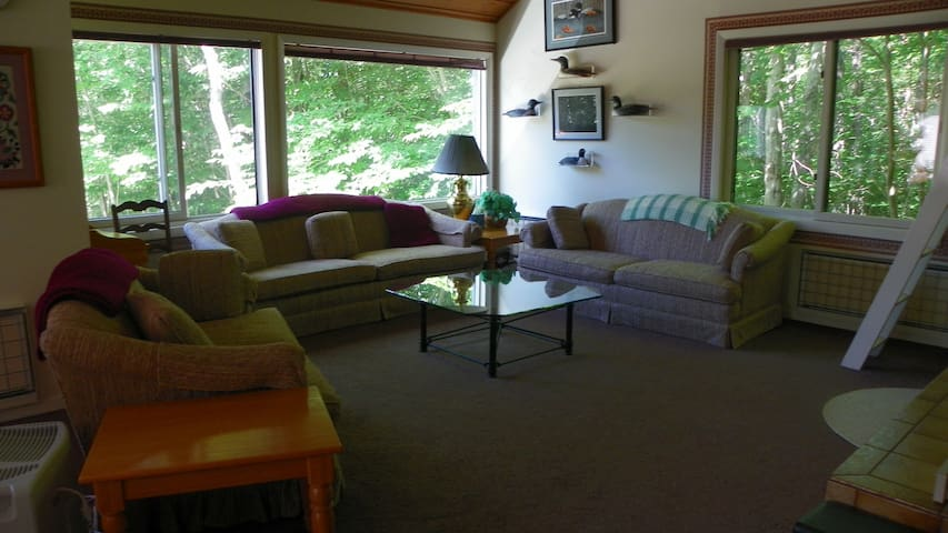 Living room in Vacation Condo near Loon Mountain Ski Resort