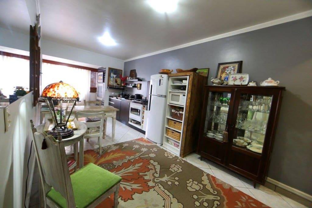 sala foi transforma em cozinha