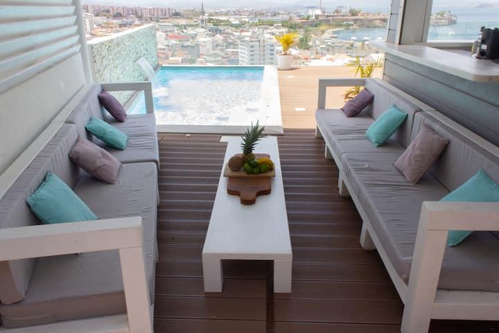 Maison avec  vue exceptionnelle et piscine