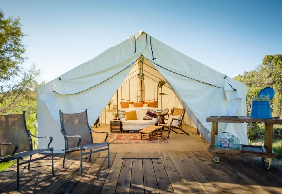 Glamping Glamorous Camping Retreat On Ranch Tents For