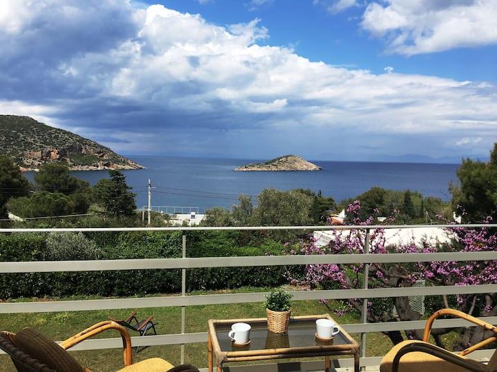 Villa Porto,  Superb Seaviews !  Relax in Nature..