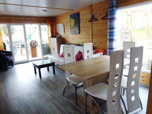 Hausboot Seepferdchen, 3 Zimmer, Dachterrasse - Rathenow - Bateau