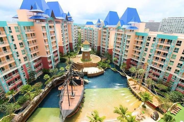 Pattaya Grand Caribbean Resort  设施一应俱全,有双条车和机场大巴站