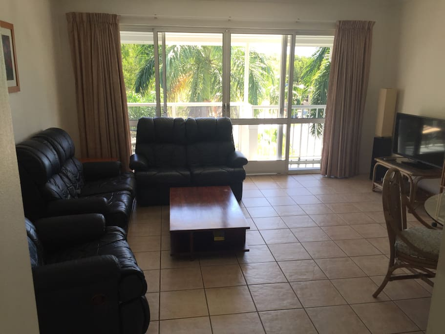 Large open living area with free high speed WiFi Internet, Netflix and Foxtel