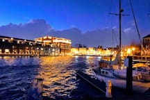 A view of Fells Point from the water.