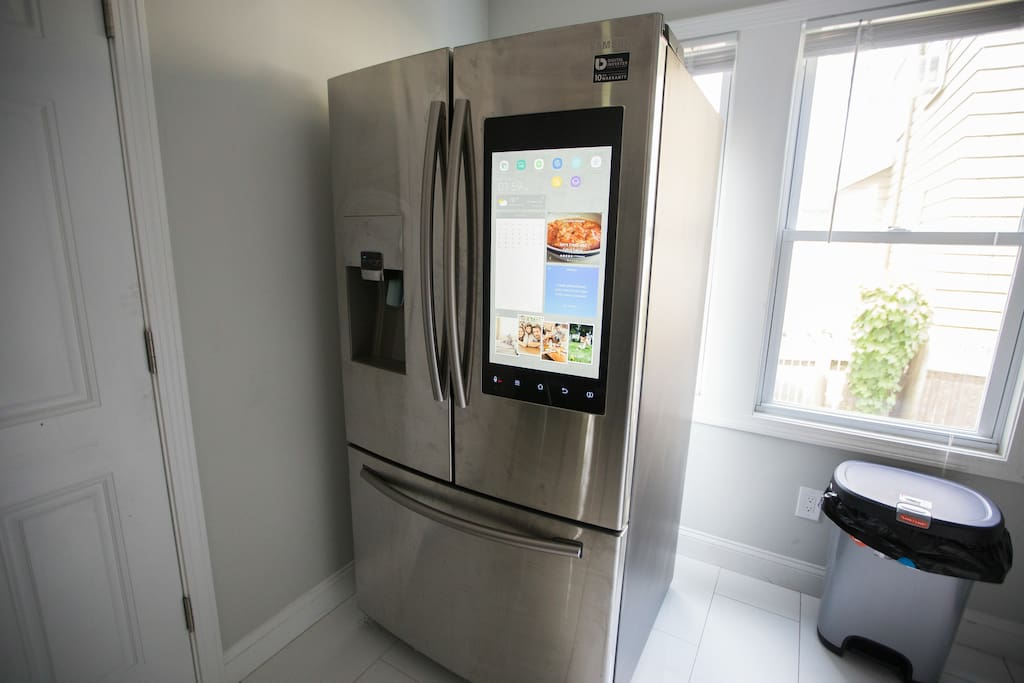Smart Fridge!!! Play music on Pandora, watch tv, order food right off the fridge!!