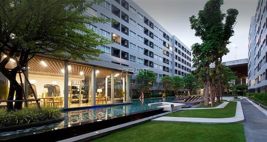 Gfeel chic studio E36 near BTS free Wi-Fi Pool GYM - Bangkok - Appartement