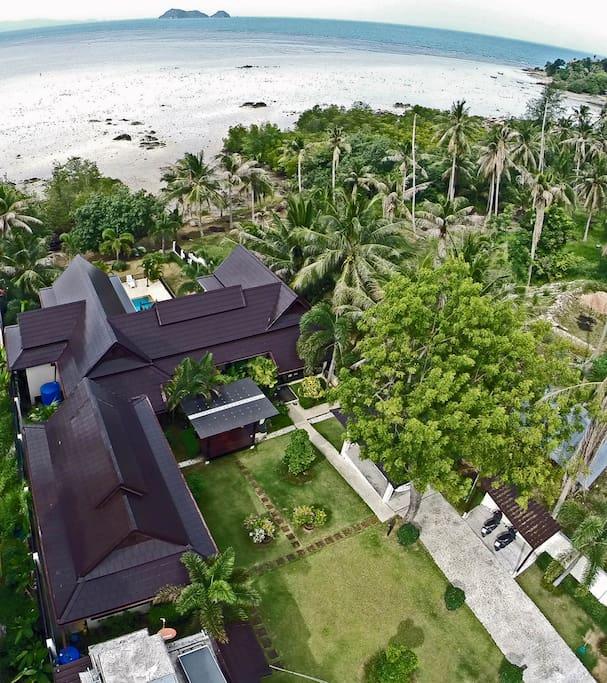Choco Villa Estate - drone view