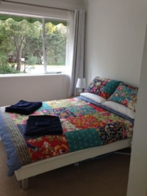 Double bed with alternative bedspread
