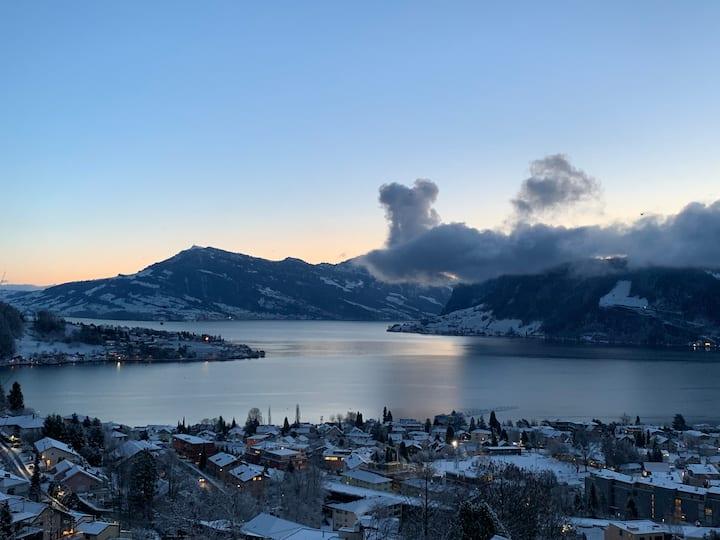 The view 39 - Wohnung mit Blick auf See und Berge