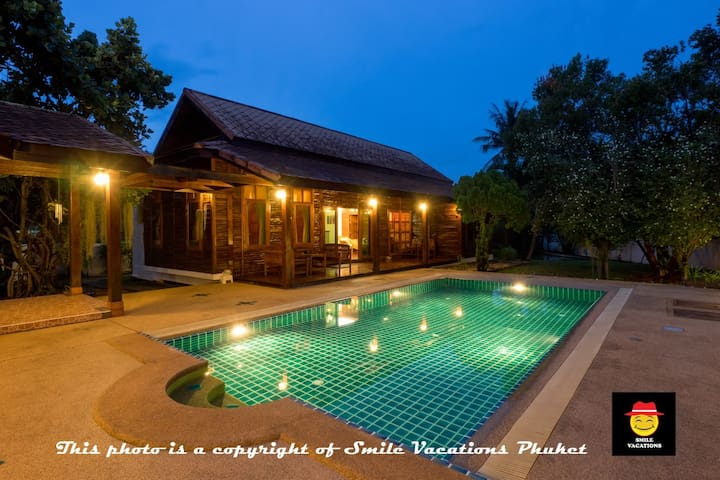 Teak Wood Private Pool Villa 100m 2 Beach Sleeps 9