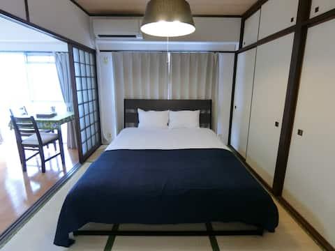 301실 60㎡의 넓은 아파트 무료 WiFi 및 무료 주차