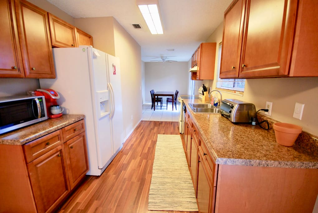Full kitchen with food disposal