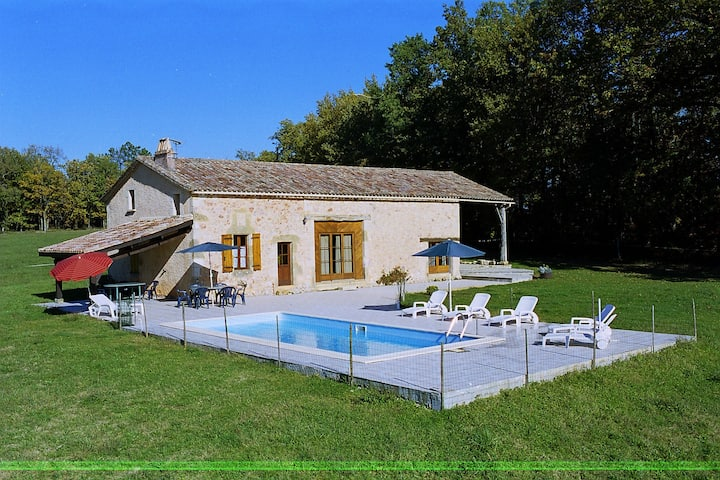 Scenic Holiday Home in Biron with Private Swimming Pool