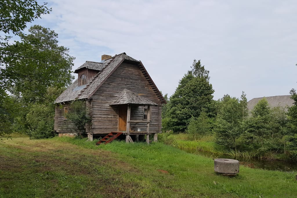 Private log cabin with sauna open year around cabins for Log cabin open planimetrie