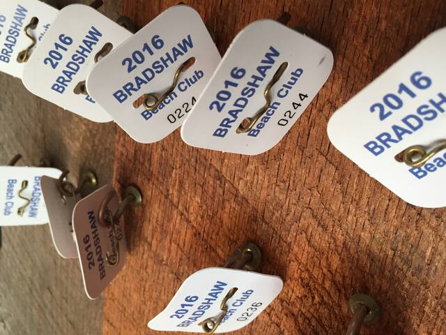 12 Beach badges included with our rental