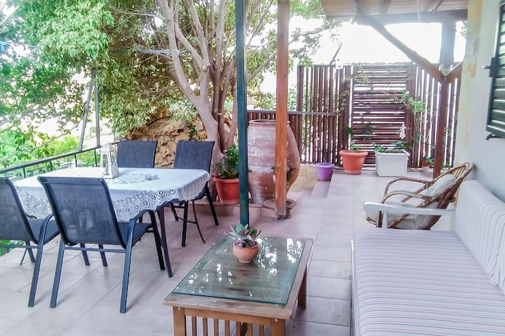 Outdoor - Fully Furnished Seview House in Keratokampos Crete