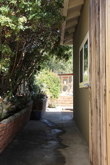 Private garden entrance.