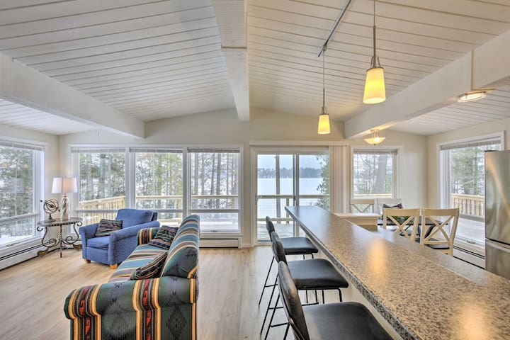 NEW! Lakefront Home w/ Deck, 8 Mi to Rhinelander!