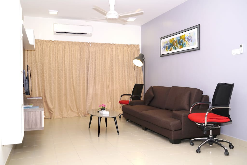 3-Bedroom Apartment - Living Area with  3-Seater Sofa