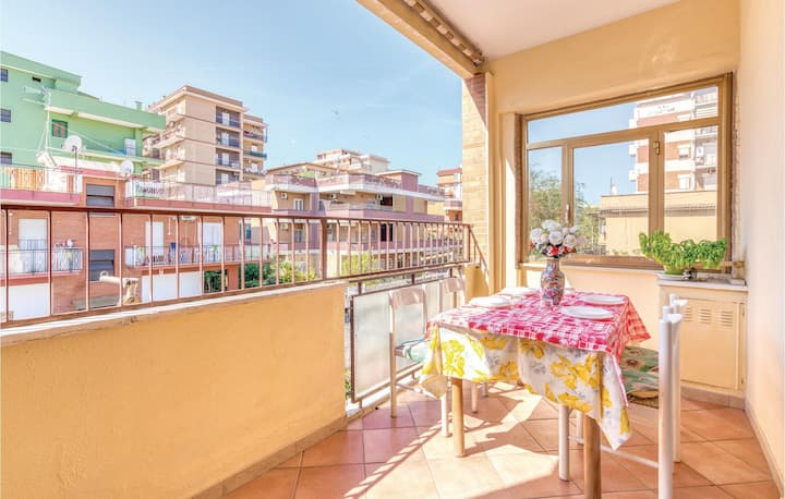 Stunning home in Ladispoli (RM) with WiFi and 1 Bedrooms